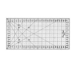 Rastrové pravítko pre patchwork 16x32cm, čierne TEXI 4065