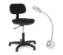 Sada stoličky a LED lampy pre šijacie stroje TEXI COMFY S