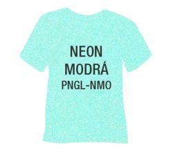 Neónová glitrová hrubá nažehľovacia fólia POLI-TAPE Craft - modrá