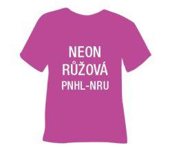 Neónová matná hladká nažehľovacia fólia POLI-TAPE Craft - ružová