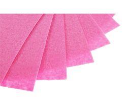 Filc na vyšívání, látková plsť, arch 20 x 30 cm, 1 ks - P010 růžová