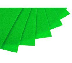 Filc na vyšívání, látková plsť, arch 20 x 30 cm, 1 ks - P022 zelená