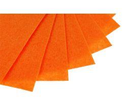 Filc na vyšívání, látková plsť, arch 20 x 30 cm, 1 ks - P040 oranžová