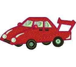 Výšivka auto 4