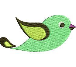 Výšivka ptáček 24