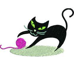 Výšivka kočka 2