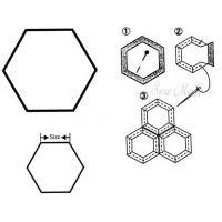 Šablony - babiččina zahrádka - hexagon 3/4