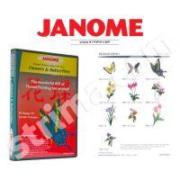 Kolekcia výšiviek Janome - Flowers & Butterflies