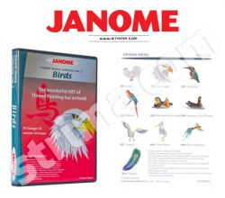 Kolekcia výšiviek Janome - Birds