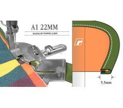 Zakladač pre šijacie stroje A1 22MM