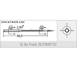 Strojové ihly pre priemyselné šijacie stroje Schmetz UY 128 GAS 70