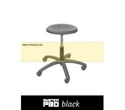 Priemyselná stolička SYSTEM PRO BLACK 1A+2A+4A+5B