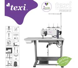 Šijaci stroj TEXI TWIN MS PREMIUM EX, ihlové podávanie
